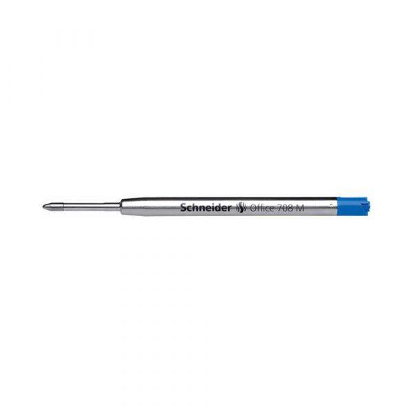 wkład do długopisów 4 alibiuro.pl Wkład Office 708 M do długopisu SCHNEIDER format G2 niebieski 48