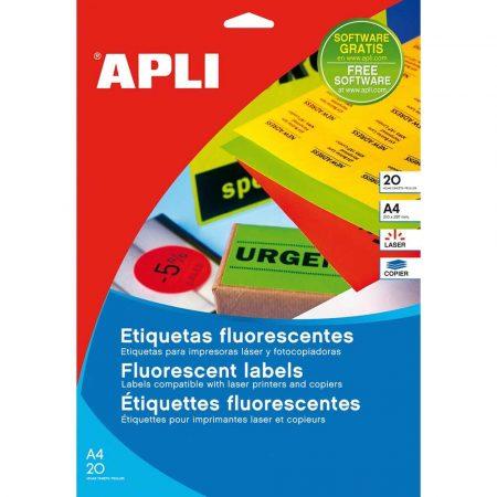 zakładka indeksująca 4 alibiuro.pl Etykiety fluorescencyjne APLI 210x297mm prostokątne zielone 52