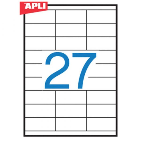 zakładka indeksująca 4 alibiuro.pl Etykiety uniwersalne APLI 70x30mm prostokątne białe 100 ark. 10