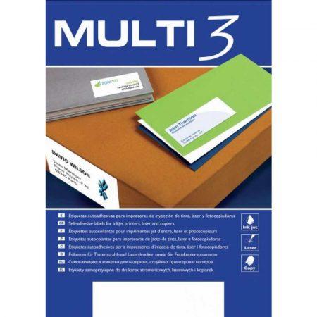 zakładki indeksujące 4 alibiuro.pl Etykiety uniwersalne MULTI 3 70x37mm prostokątne białe 100 ark. 42