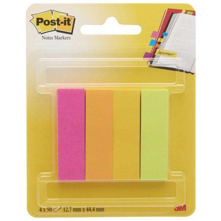 zakładki indeksujące 4 alibiuro.pl Znaczniki POST IT 670 4CA EU papier 12 7x44 4mm 4x50 kart. zawieszka mix kolorów 84
