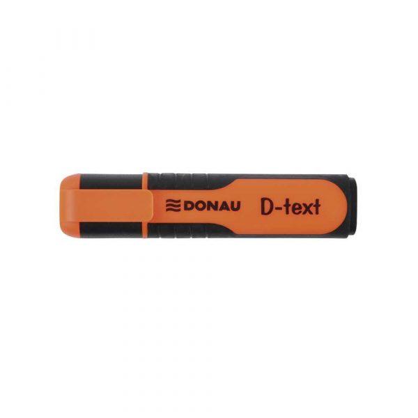 zakreślacz biurowy 4 alibiuro.pl Zakreślacz fluorescencyjny DONAU D Text 1 5mm linia pomarańczowy 54