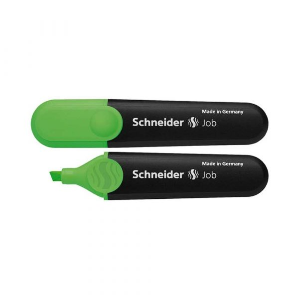 zakreślacze biurowe 4 alibiuro.pl Zakreślacz SCHNEIDER Job 1 5 mm zielony 22