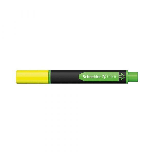 zakreślacze biurowe 4 alibiuro.pl Zakreślacz SCHNEIDER Link It 1 4mm żółty 96