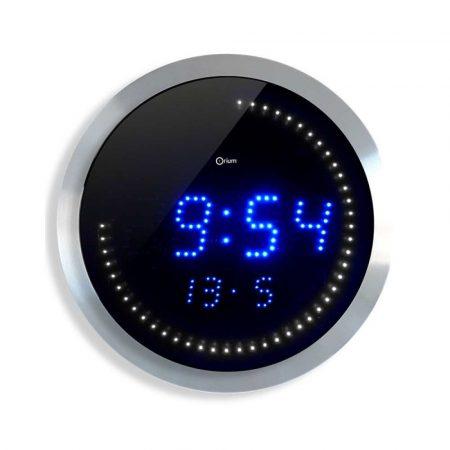 zegar 4 alibiuro.pl Zegar ścienny CEP LED 30cm niebiesko srebrny 84