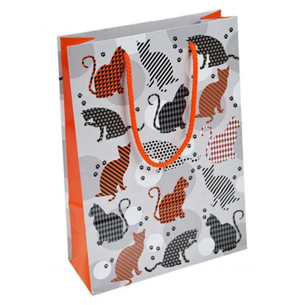 zestaw kreatywny 4 alibiuro.pl Torebka na prezenty OFFICE PRODUCTS laminowana 20x8x28cm całoroczna mix wzorów 24