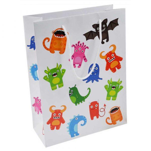 zestaw kreatywny 4 alibiuro.pl Torebka na prezenty OFFICE PRODUCTS laminowana 24x10x32cm dziecięca mix wzorów 36