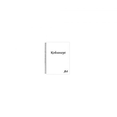 zeszyty 1 alibiuro.pl A4 50 kartek kołozeszyt spirala bok 10