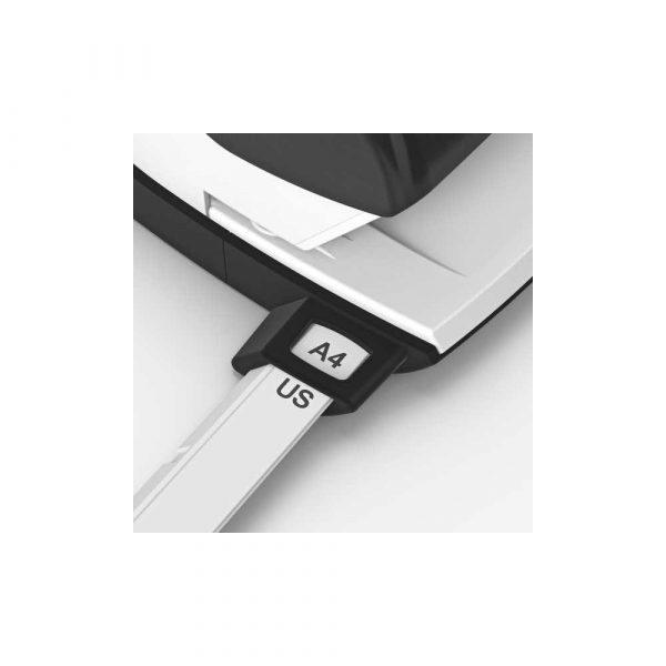 akcesoria biurowe 5 alibiuro.pl Dziurkacz duży metalowy Leitz NeXXt Style tytanowy błękit 88
