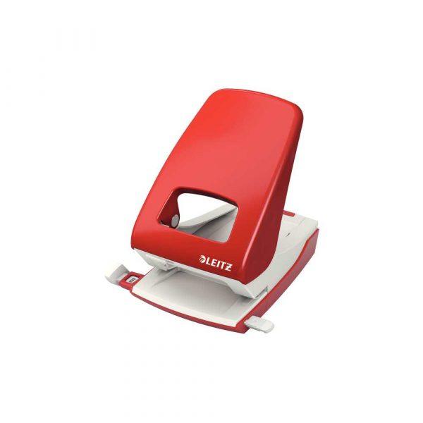 akcesoria biurowe 5 alibiuro.pl Dziurkacz duży metalowy Leitz New NeXXt czerwony 36