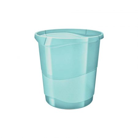 akcesoria biurowe 5 alibiuro.pl Kosz na śmieci Esselte Colour Inch Ice niebieski 3