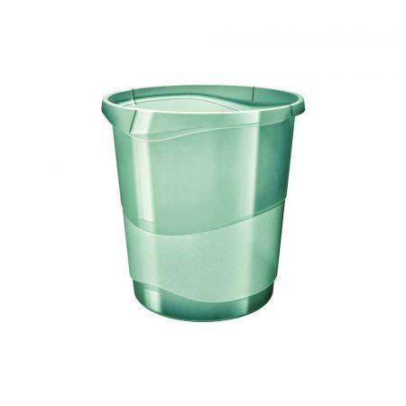 akcesoria biurowe 5 alibiuro.pl Kosz na śmieci Esselte Colour Inch Ice zielony 83