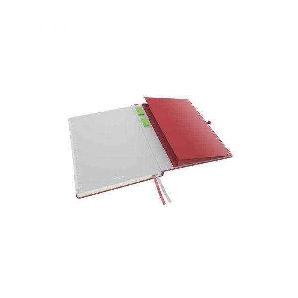 akcesoria biurowe 5 alibiuro.pl Notatnik Leitz Complete A4 w linie z twardą okładką czerwony 85