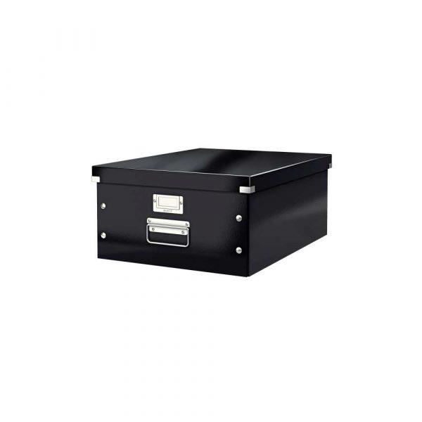 akcesoria biurowe 5 alibiuro.pl Pudełko do przechowywania Leitz Click Store WOW A3 czarny 12