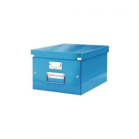 akcesoria biurowe 5 alibiuro.pl Pudełko do przechowywania Leitz Click Store WOW A4 niebieski 38