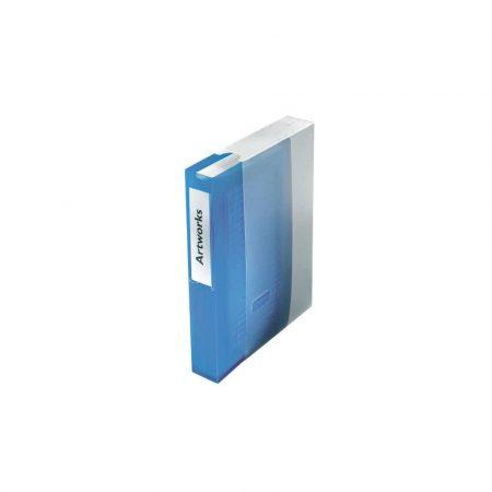 akcesoria biurowe 5 alibiuro.pl Segregator na płyty CD niebieski przezroczysty 73