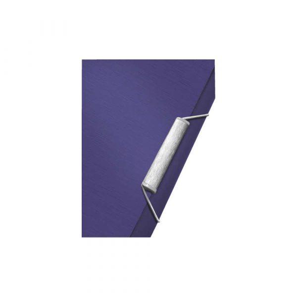 akcesoria biurowe 5 alibiuro.pl Teczka z gumką Leitz Style 15 mm tytanowy błękit 69
