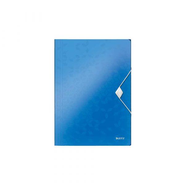 akcesoria biurowe 5 alibiuro.pl Teczka z gumką Leitz WOW 15 mm niebieski 38