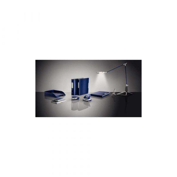 artykuły biurowe 5 alibiuro.pl Dziurkacz duży metalowy Leitz NeXXt Style tytanowy błękit 68