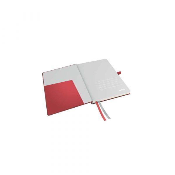 artykuły biurowe 5 alibiuro.pl Notatnik Leitz Complete A5 w linie z twardą okładką czerwony 75