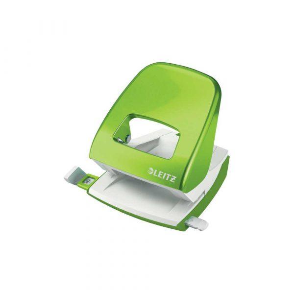 dziurkacze na biurko 5 alibiuro.pl Dziurkacz duży metalowy Leitz WOW NeXXt zielony 80