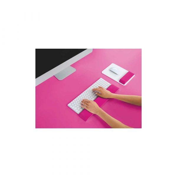 ergonomia i bezpieczeństwo 5 alibiuro.pl Regulowana podpórka pod nadgarstki Leitz Ergo WOW do klawiatury różowy 23