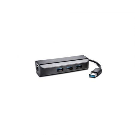 kabel HDMI 5 alibiuro.pl Adapter Kensington USB 3.0 Ethernet z 3 portowym koncentratorem czarny 83