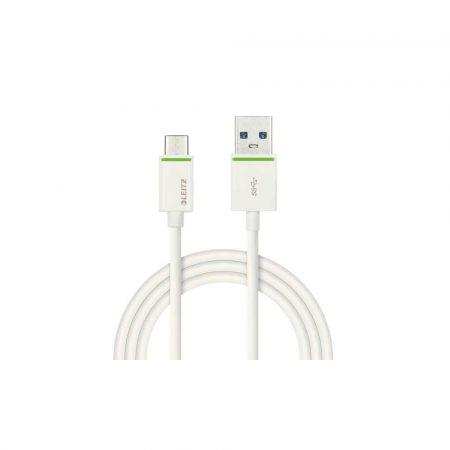 kable 5 alibiuro.pl Kabel Leitz Complete USB C na USB A 3.1 do ładowania urządzeń i przenoszenia danych 1m biały 70