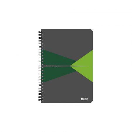 kołonotatniki 5 alibiuro.pl Kołonotatnik Leitz Office A5 w kratkę z okładką PP zielony 28