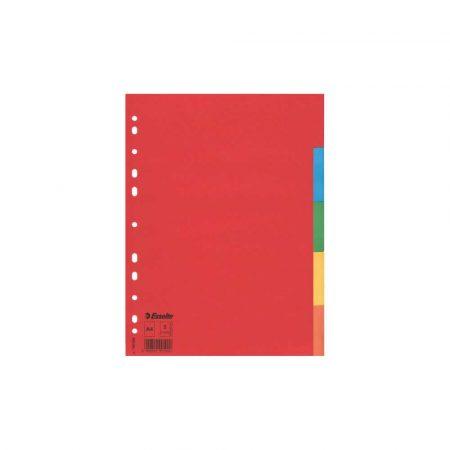 organizacja dokumentów 5 alibiuro.pl Przekładki Esselte z kolorowego kartonu A4 wielobarwny 96