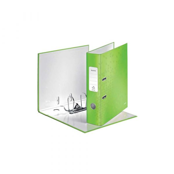 organizacja dokumentów 5 alibiuro.pl Segregator Leitz 180 WOW laminowany zielony 48