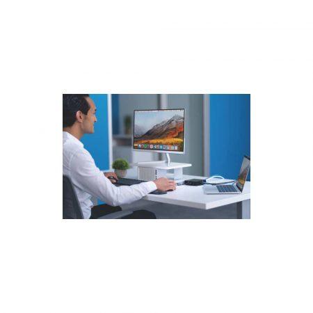 podstawka ergonomiczna pod monitor 5 alibiuro.pl Podstawka Kensington CoolView pod monitor z wentylatorem biały 6