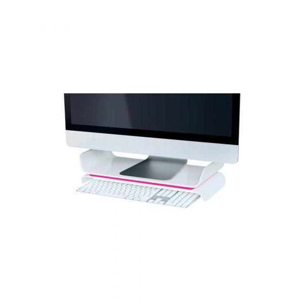 podstawki ergonomiczne pod monitory 5 alibiuro.pl Regulowana podstawka Leitz Ergo WOW pod monitor różowy 11