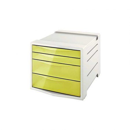 przybornik na biurko 5 alibiuro.pl Pojemnik z szufladami Esselte Colour Inch Ice żółty 28