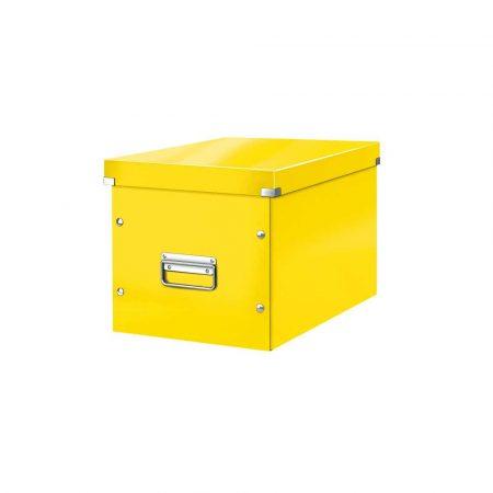 pudła archiwizacyjne 5 alibiuro.pl Pudło do przechowywania Leitz Click Store WOW Cube rozmiar L żółty 85