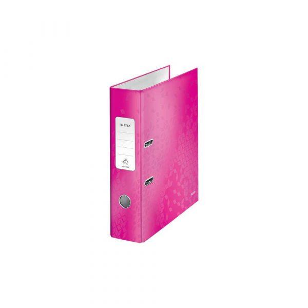 segregator poziomy 5 alibiuro.pl Segregator Leitz 180 WOW laminowany różowy 49