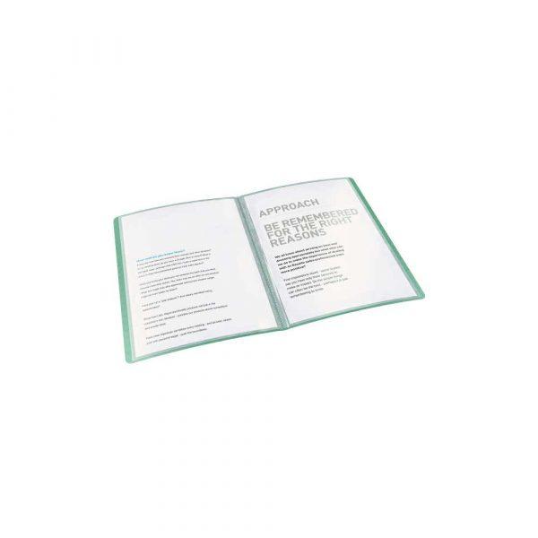 sprzęt biurowy 5 alibiuro.pl Album ofertowy Esselte Colour Inch Ice z 40 koszulkami zielony 83
