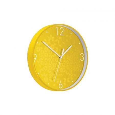 sprzęt biurowy 5 alibiuro.pl Cichy zegar ścienny Leitz WOW żółty 40