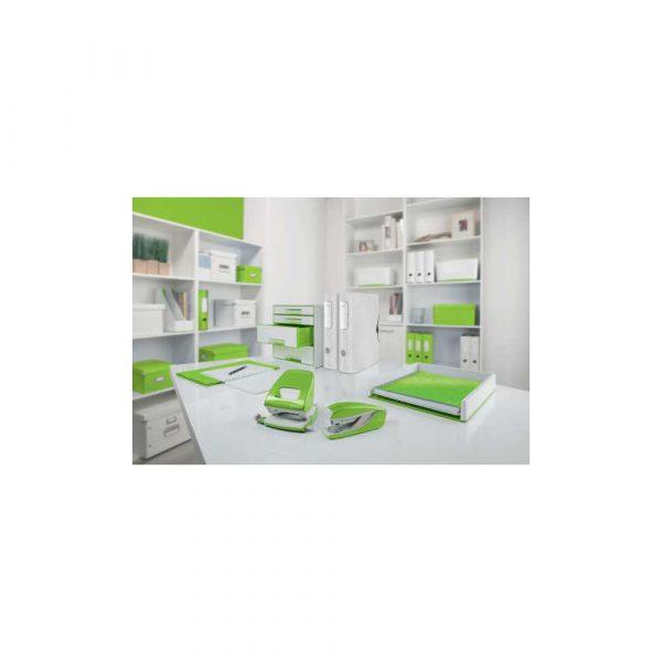 sprzęt biurowy 5 alibiuro.pl Dziurkacz duży metalowy Leitz WOW NeXXt zielony 40