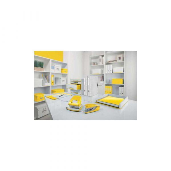 sprzęt biurowy 5 alibiuro.pl Dziurkacz duży metalowy Leitz WOW NeXXt żółty 12