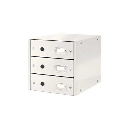 sprzęt biurowy 5 alibiuro.pl Pojemnik z szufladami Leitz Click Store WOW 3 szuflady biały 18