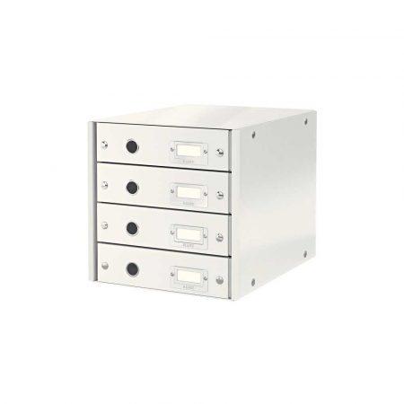 sprzęt biurowy 5 alibiuro.pl Pojemnik z szufladami Leitz Click Store WOW 4 szuflady biały 38