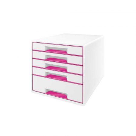 sprzęt biurowy 5 alibiuro.pl Pojemnik z szufladami Leitz WOW CUBE różowy 37