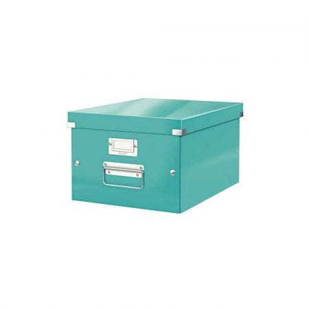 sprzęt biurowy 5 alibiuro.pl Pudełko do przechowywania Leitz Click Store WOW A4 turkusowy 53