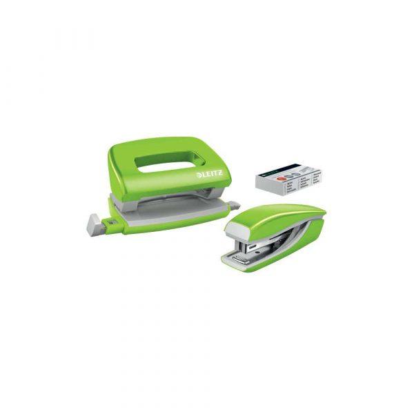 sprzęt biurowy 5 alibiuro.pl Zestaw zszywacz i dziurkacz metalowy mini Leitz NeXXt WOW zielony 8