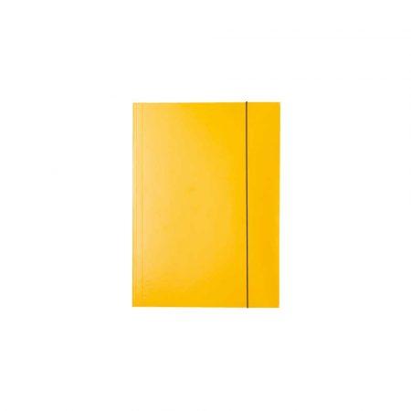 teczka skrzydłowa 5 alibiuro.pl Teczka lakierowana z gumką żółty 58