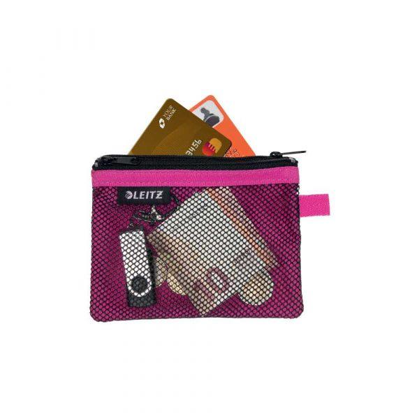 torby na komputerów 5 alibiuro.pl Saszetka podróżna Leitz WOW z 2 kieszonkami S różowy 79