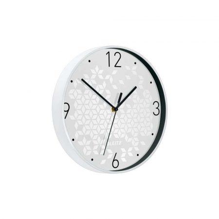 zegar 5 alibiuro.pl Cichy zegar ścienny Leitz WOW biały 49