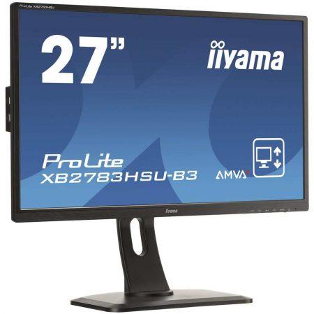 LCD 7 alibiuro.pl Monitor IIYAMA ProLite XB2783HSU B3 27 Inch AMVA FullHD 1920x1080 DisplayPort HDMI VGA kolor czarny 69
