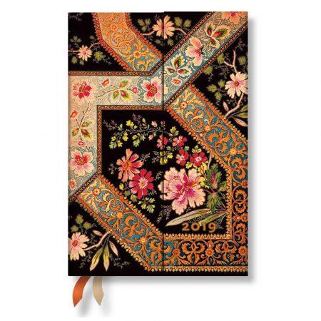akcesoria biurowe 7 alibiuro.pl Kalendarz paperblanks 2019 Floral Ebony Mini wielokolorowy 35